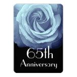 "65.o Azul de cielo del aniversario de boda A05 Invitación 5"" X 7"""