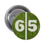 65.o Botón del fútbol de la yarda Pin