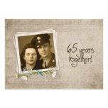 65.o Casa abierta del aniversario de boda Invitacion Personalizada