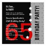 65.o Cumpleaños D845D1 divertido negro de plata ro