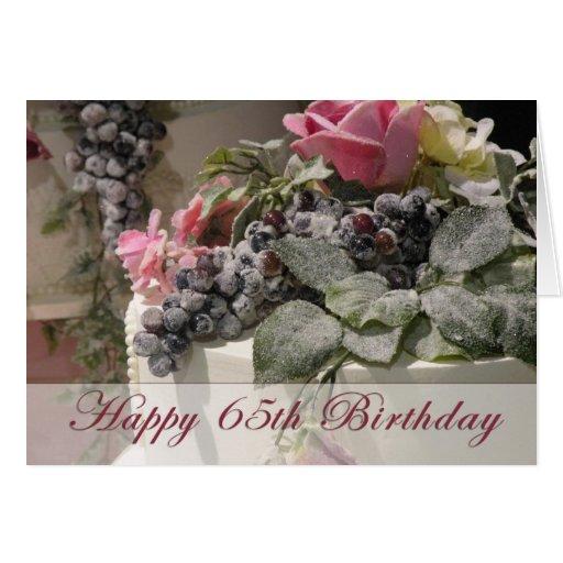 65.o cumpleaños feliz tarjeta de felicitación
