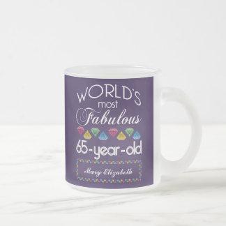 65.o Cumpleaños la mayoría de las gemas coloridas Taza De Café