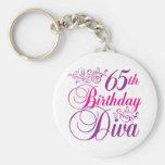 65.o Diva del cumpleaños Llaveros Personalizados