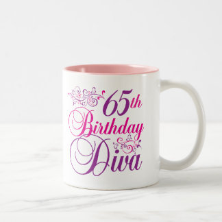 65 o Diva del cumpleaños Taza