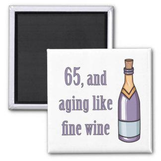 65 o El envejecimiento del cumpleaños tiene gusto Imanes