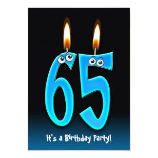 """65.o Fiesta de cumpleaños con los globos del ojo Invitación 5"""" X 7"""""""