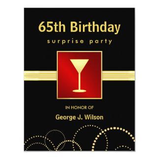 """65.o Fiesta de sorpresa del cumpleaños - foto Invitación 4.25"""" X 5.5"""""""