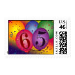 65.o Franqueo del globo del cumpleaños