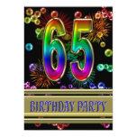 65.o Invitación de la fiesta de cumpleaños con las