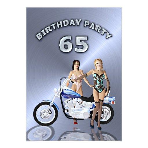 65.o Invitación de la fiesta de cumpleaños con una Invitación 12,7 X 17,8 Cm
