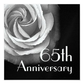 65.o Invitación del aniversario - rosa BLANCO