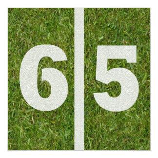 65.o Invitación del cumpleaños de la yarda