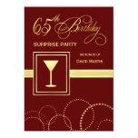 65.o Invitación del fiesta de sorpresa del