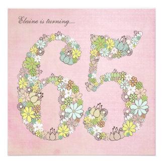 65 o Invitación del personalizado de las floracion