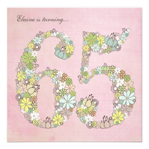 65.o Invitación del personalizado de las floracion