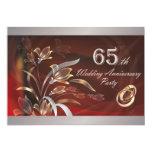 65.o Invitaciones de la fiesta de aniversario del Anuncio Personalizado