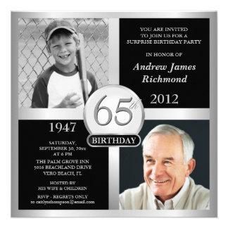 65 o Invitaciones del cumpleaños entonces y ahora