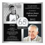 65.o Invitaciones del cumpleaños entonces y ahora Anuncio Personalizado