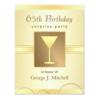 65.o Invitaciones del fiesta de sorpresa del Comunicados