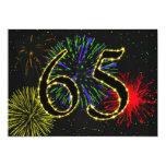 65.o invitate de la fiesta de cumpleaños invitación personalizada