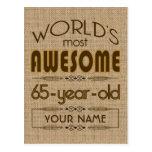 65.o Mundo de la celebración del cumpleaños mejor  Postales