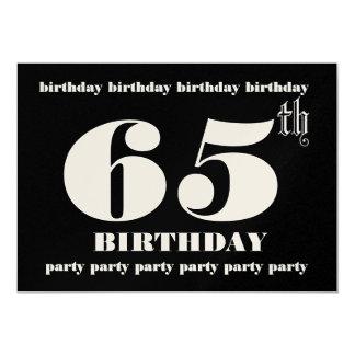 65.o Plantilla de la invitación de la fiesta de
