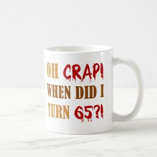 65 o regalo divertido de la mordaza del cumpleaños taza de café