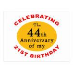 65.o Regalos de la mordaza del cumpleaños Postal