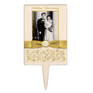 65.o Selección de la torta del aniversario de boda Decoración Para Tarta