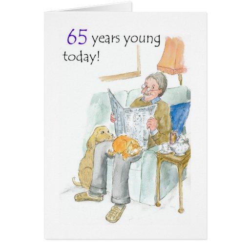 65.o Tarjeta de cumpleaños para un hombre