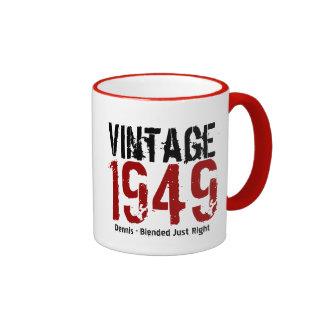 65.o Vintage del cumpleaños 1949 o cualesquiera Taza De Dos Colores