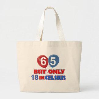 65.os diseños del cumpleaños bolsa tela grande