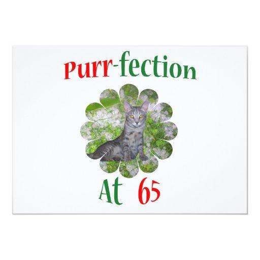 65 Purr-fection 5x7 Paper Invitation Card
