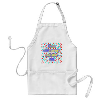 65 Red Dots Old Adult Apron