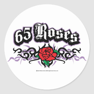 65 Roses Tribal Classic Round Sticker