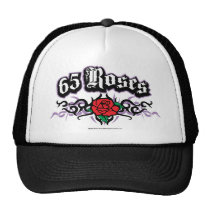 65 Roses Tribal Trucker Hat