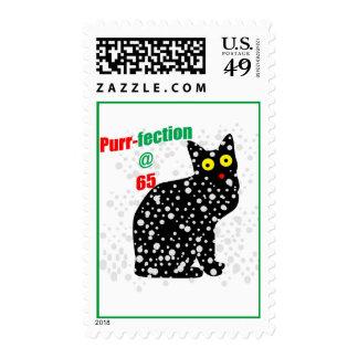 65 Snow Cat Purr-fection Stamp