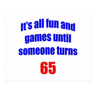 65 Someone turns 65 Postcard