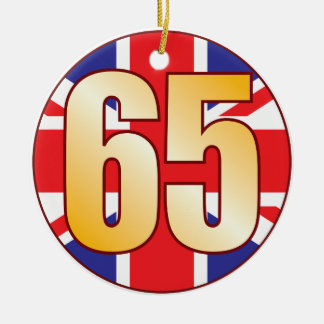 65 UK Gold Ceramic Ornament