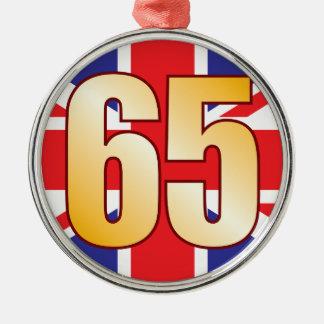 65 UK Gold Metal Ornament