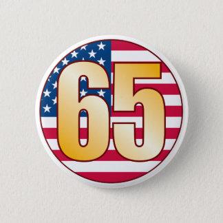 65 USA Gold Pinback Button