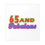 65 y diseños fabulosos del cumpleaños bloc de notas