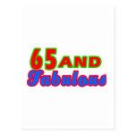 65 y diseños fabulosos del cumpleaños postal