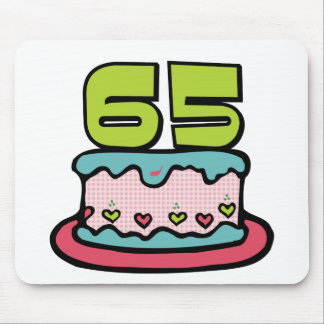 65 Year Old Birthday Cake Mouse Pad