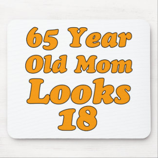 65 year old birthday design mouse pad