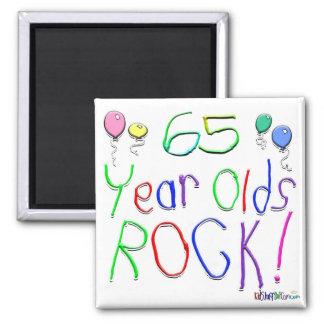 65 Year Olds Rock ! Refrigerator Magnet