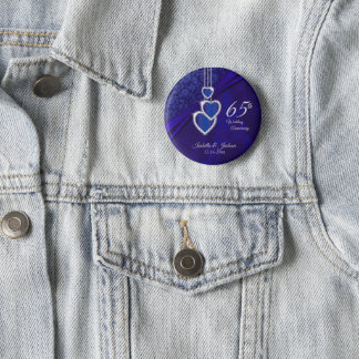 65th / 45th Wedding Anniversary Design 2 Pinback Button