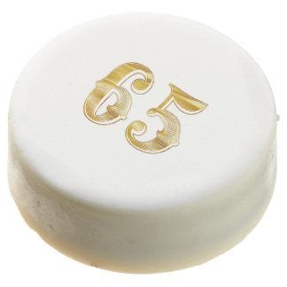 65th Anniversary 65 Birthday Gold White Cookie