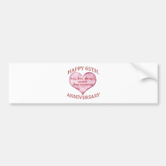 65th. Anniversary Bumper Sticker