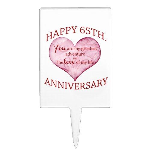 65th. Anniversary Cake Topper | Zazzle
